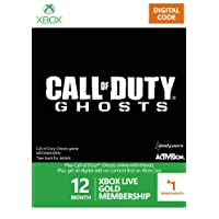 Xbox LIVE 12+1 Month Gold Membership: Call of Duty Ghosts Branded [Online Game Code]