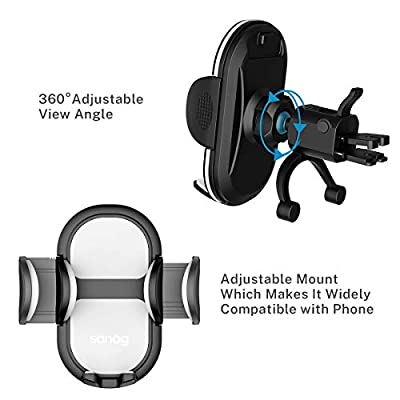 Car Phone Mount Air Vent Phone Holder for Car, Universal Handsfree Cell Phone Car Mount with iPhone 11 Pro Max/XR/XS Max/XS/X/8/8 Plus/7/7P Galaxy S10/S10+/S9/Note 9 Google LG