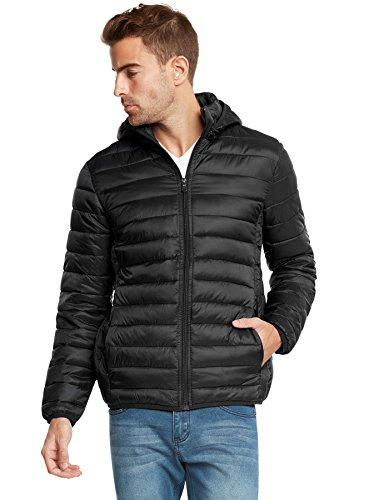 9 Crowns Essentials Men's Lightweight Puffer Jacket-Black-2XL by 9 Crowns