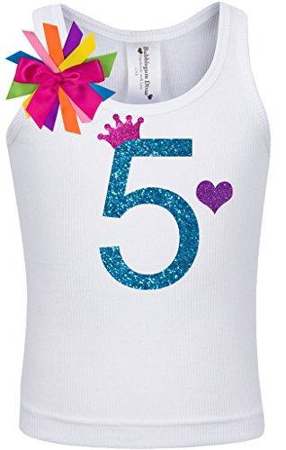 Birthday Diva T-shirt (Bubblegum Divas Little Girls 5th Birthday Rainbow Princess Shirt)