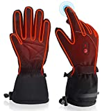 QILOVE Winter Warm Electric Heated Gloves Rechargeable Battery Powered Men Women Snow Gloves