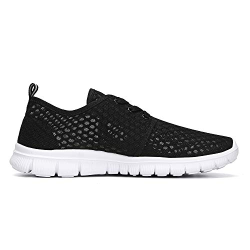Leaderica Men's Breathable Mesh Slip On Water Shoes Casual Walking Sneakers