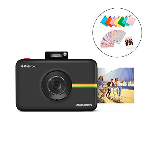 (Polaroid SNAP Touch 2.0 - 13MP Portable Instant Print Digital Photo Camera w/Built-In Touchscreen Display, Black)