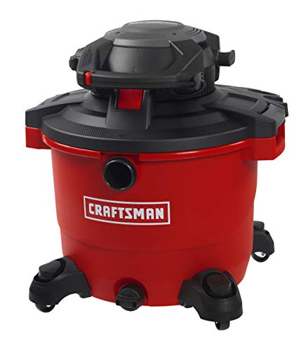 CRAFTSMAN 17607 16 gallon 6.5 Peak Hp Wet/Dry Vac with Detachable Leaf Blower, Heavy-Duty Shop Vacuum with Attachments