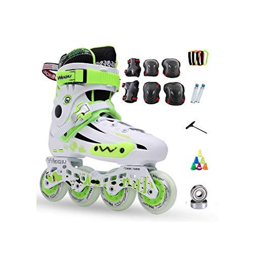 キャッシュ創造ドナウ川ailj インラインスケート、スケート、大人の子供、男性と女性、ローラースケートのセット、プロフェッショナルコンビネーション、多機能スケート(3色) (色 : 青, サイズ さいず : EU 36/US 4.5/UK 3.5/JP 23cm)