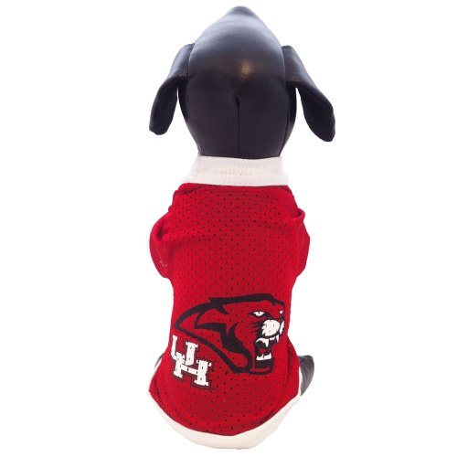 NCAA Houston Cougars Athletic Mesh Dog Jersey (Team Color, XX-Small) -