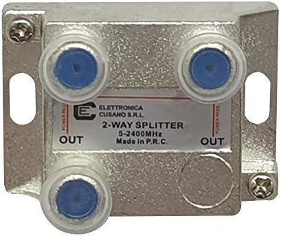 8251 - Splitter satélite de 2 vías, partitor Antena TV de ...