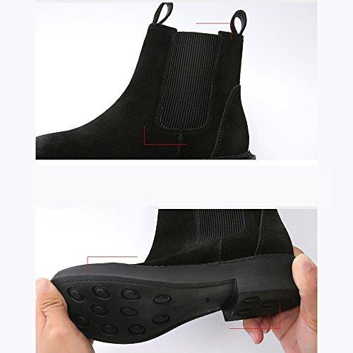 mince Couleur courtes sexy Noir UK6 Nubuck Fin Bottes Noir Bottes plates EU39 Extérieur femmes ArmyGreen Taille Style Noir pour CN39 britannique 7nW88F6