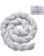Luchild Bettumrandung Babybett Länge 2/1.5mBaby Nestchen Bettumrandung Weben Geflochtene Stoßfänger Dekoration für Krippe Kinderbett