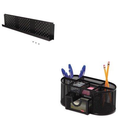 KITBLT66627ROL1746466 - Value Kit - Balt Height-Adjustable Flipper Table Modesty Panel (BLT66627) and Rolodex Mesh Pencil Cup Organizer (ROL1746466)