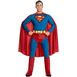 DC Comics Superman Costume, Blue, X-Large
