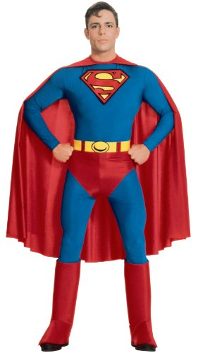 Superman Jumpsuit (DC Comics Superman Costume, Blue, X-Large)