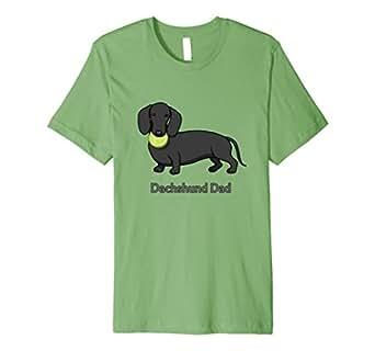 Mens Cute Black Dachshund Dad Tennis Ball T-Shirt 2XL Grass