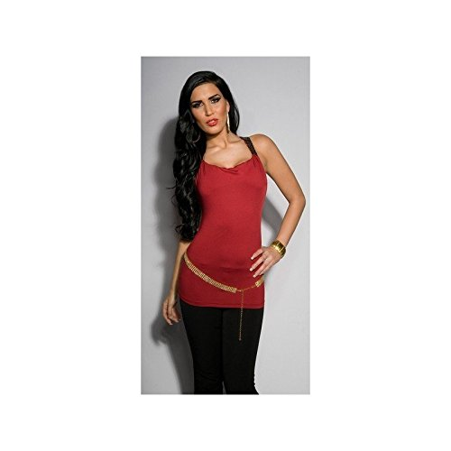 Mela Proibita - Camiseta sin mangas - para mujer burdeos
