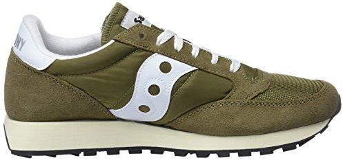 Vintage 13 oliv Gymnastique Chaussures wht Marron Homme Saucony De Original Jazz EvCxwPaqA