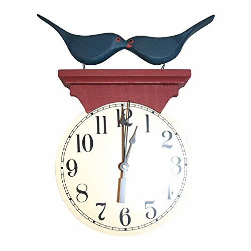 Bluebird Clock (Renovator's Supply Bluebird Clock Blue/Red Wood)
