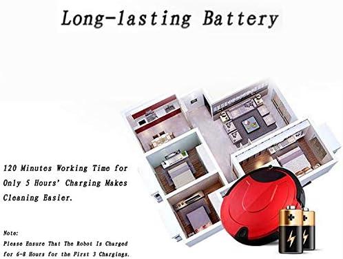 JINYANG Robot Intelligent TOCOOL TC-650 Robot Nettoyeur de ménage à Balayage Tactile for aspirateur Intelligent avec télécommande (Noir) (Color : Gold) Red