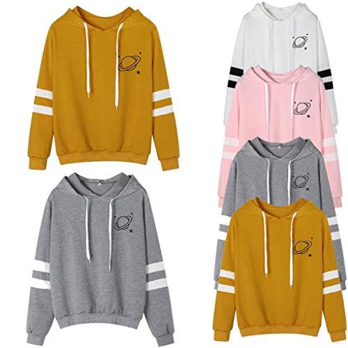 Shirt donna magliette Camicia hoodie donna tumblr eleganti con Maniche Donna tumblr maniche donna ragazza cappuccio grandi C Felpe T lunghe Lunghe Maglie sweatshirt beautyjourney 1xR0BqFR