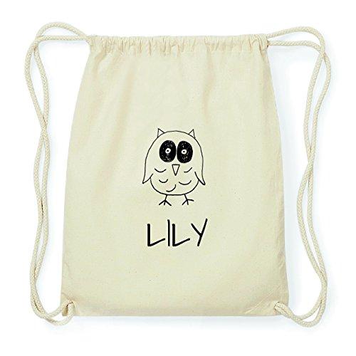 JOllipets LILY Hipster Turnbeutel Tasche Rucksack aus Baumwolle Design: Eule