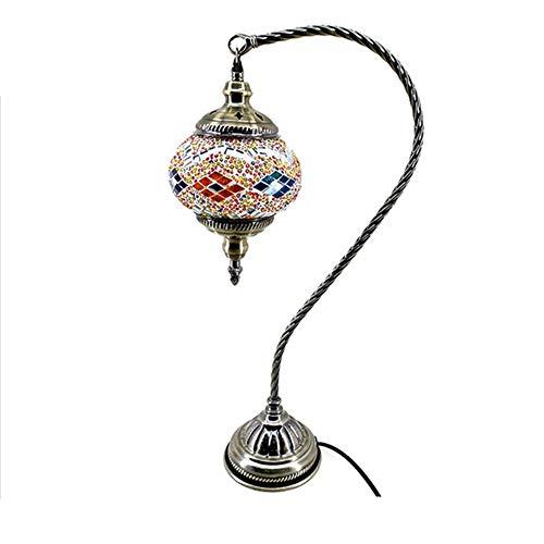 Table Lamp Swan Neck Glass Lampshade Arabian Mosaic Moroccan Lantern Chandelier Mediterranean Style Turkish Light Mosaic Lighting by OOFAY LIGHT