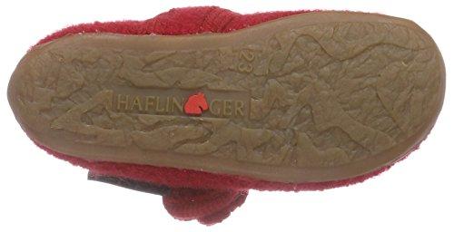 Haflinger Fleur Mädchen Flache Hausschuhe Rot (85 ziegelrot)