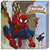 Procos 85154?-?Ultimate Spider Man Web Warriors Paper Napkins, 33?x 33?cm, 2?Ply, Red/Blue/Blue by Procos