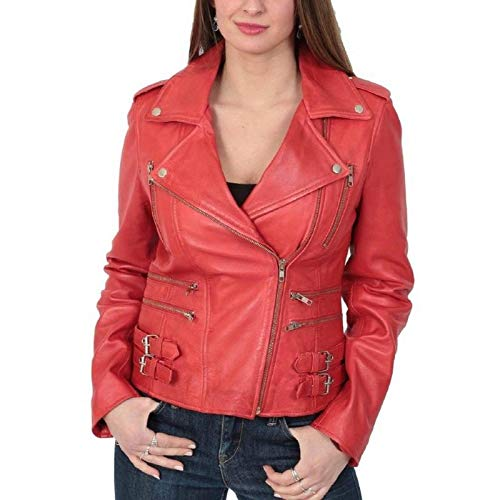 New Fashion Style Women's Leather Jackets Red E63_Small for sale  Delivered anywhere in Canada