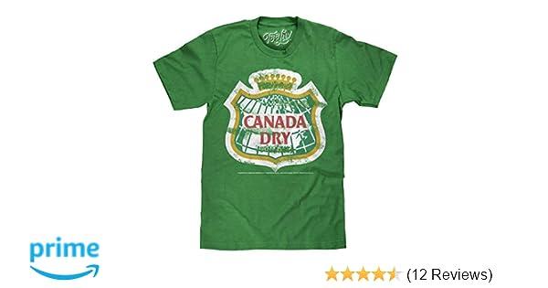 MENS CANADA DRY T-SHIRT GREEN DISTRESSED LOGO RETRO SODA  TEE TOP NEW