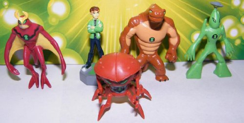 Ben 10 Alien Force Figures Vending Machine Toys By Cartoon Network