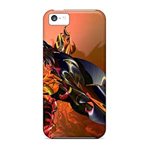 Tpu Fashionable Design Orange 3d Rugged Case Cover For Iphone 5c New
