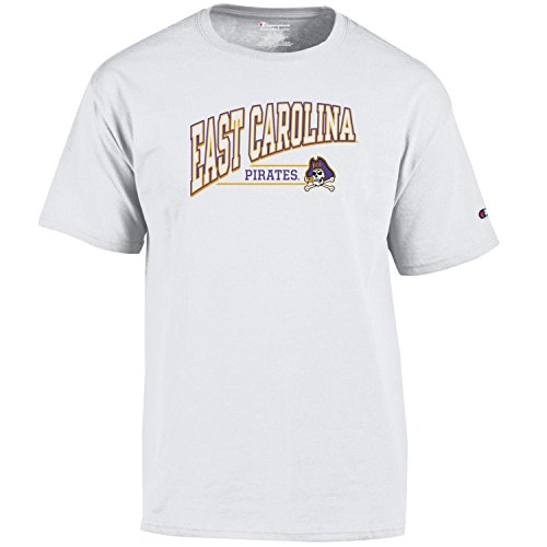 - NCAA East Carolina Pirates Men's Fadeaway Short Sleeve T-Shirtshort Jersey Tee, White, Small