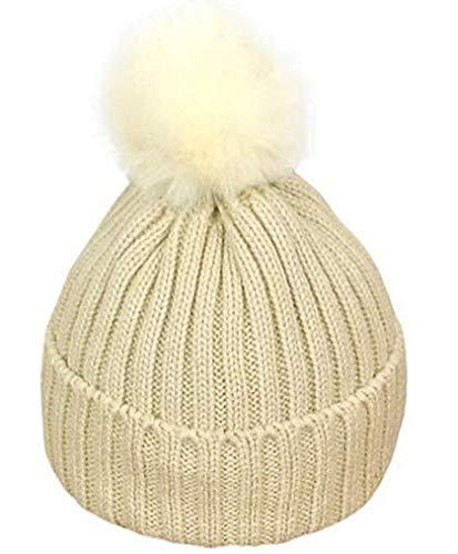 Stybelle Winter Haar Ball Kinder warme Wolle Hut Mode Stricken Hut Ear Haubekappe