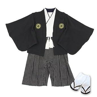 a8379264f13a0 Amazon.co.jp: ベビー 袴 男の子 ロンパース カバーオール フォーマル ...