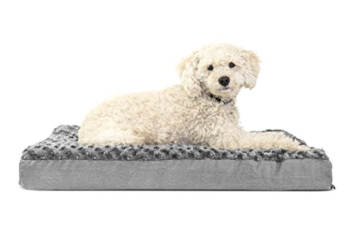 FurHaven Deluxe Orthopedic Pet Bed Mattress for Dogs and Cats, Gray, Medium