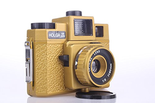 Holga 120GCFN Gold with Glass Lens and Colored Flash Film Camera by Holga