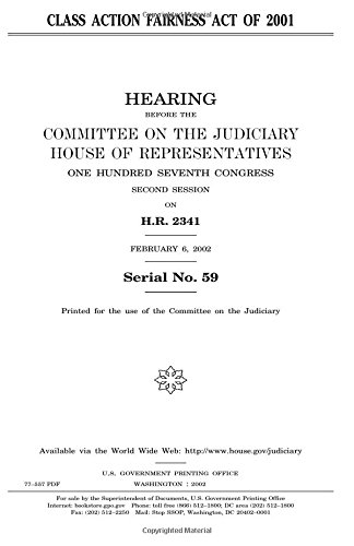 Read Online Class Action Fairness Act of 2001 pdf