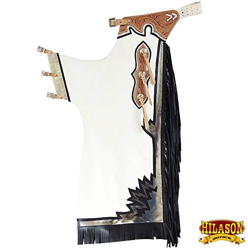 HILASON Pro Rodeo Bronc Bull-Riding Show Genuine Leather Chaps
