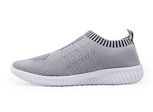 DMGYDAF Women's Lightweight Walking Athletic Shoes Breathable Mesh Sneakers Casual Running Shoes Gray 39 by DMGYDAF (Image #2)