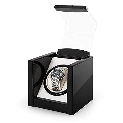 Klarstein Cannes • Caja para Relojes automáticos • Estuche Giratorio • Movimiento rotativo • Bobina de 2160 giros/día • Motor silencioso • Visor ...