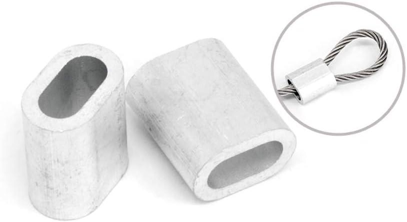 Aluminum Crimping Loop Sleeve for Wire Rope,5pcs,M18 JKYLI-HJ Aluminum Ferrule