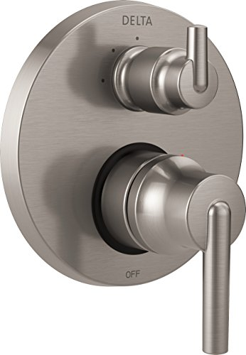 Delta Faucet T24859-SS Trinsic Contemporary Monitor 14 Series Valve Trim with 3-Setting Integrated Diverter, Stainless