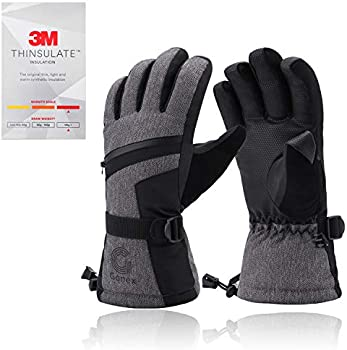 Gonex Waterproof Touchscreen 3M Thinsulate Snowmobile Winter Snow Gloves