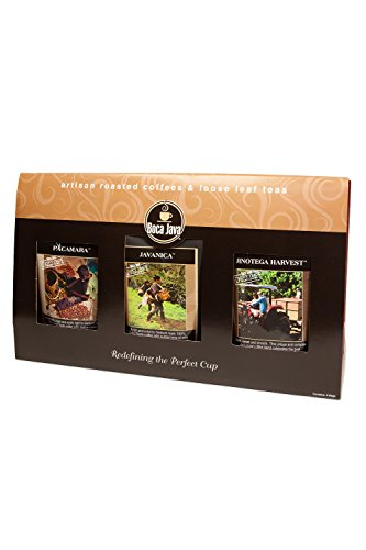 Boca Java Roast to Order Coffee, Direct Trade Coffee Trio Gift Set - with Ground Coffee