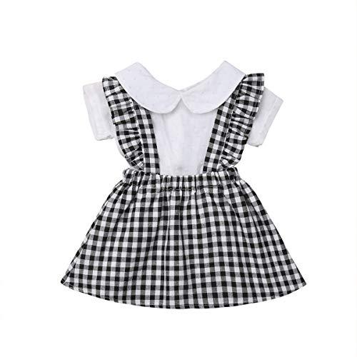 April Li Conjunto de Faldas de Princesa con Cuello de Camisetas y Volantes para niñas pequeñas, 2 Unidades, Gris, 24-30M US