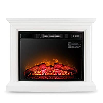 DELLA 050-HA-50098-CH 1400W Deluxe Insert Fireplace Remote, White