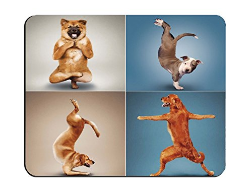 Yoga Dogs Funny Design Personalized Rectangle Mouse (Funny Dog)