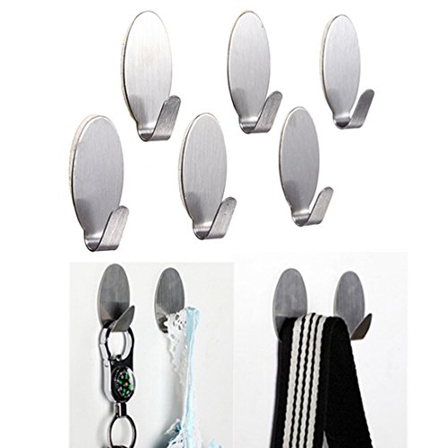 Decko Plastic Toilet Paper Holder (Corner Biz Bath - 6Pcs Stainless Steel Adhesive Clothes Hook Wall Door Holder Bathroom Towel Hanger Set)