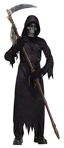 [UHC Demon Of Doom Outfit Skeleton Mask Horror Theme Child Halloween Costume, L (12-14)] (Demon Of Doom Child Costumes)