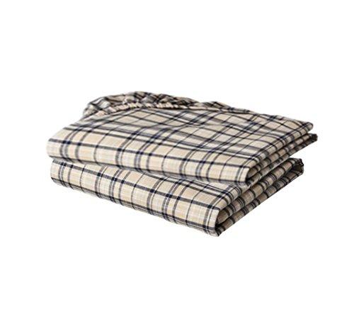 Bacati Crib Fitted Sheet, Khaki Plaids Yarn Dyed (Pack of 2) ()