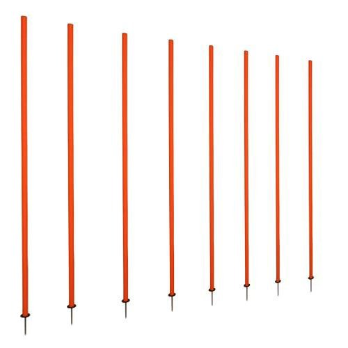 Cougar Spring Loaded Slalom Poles 5' Agility Speed Multi Sport Training (set of 8 Poles) by CougarFit